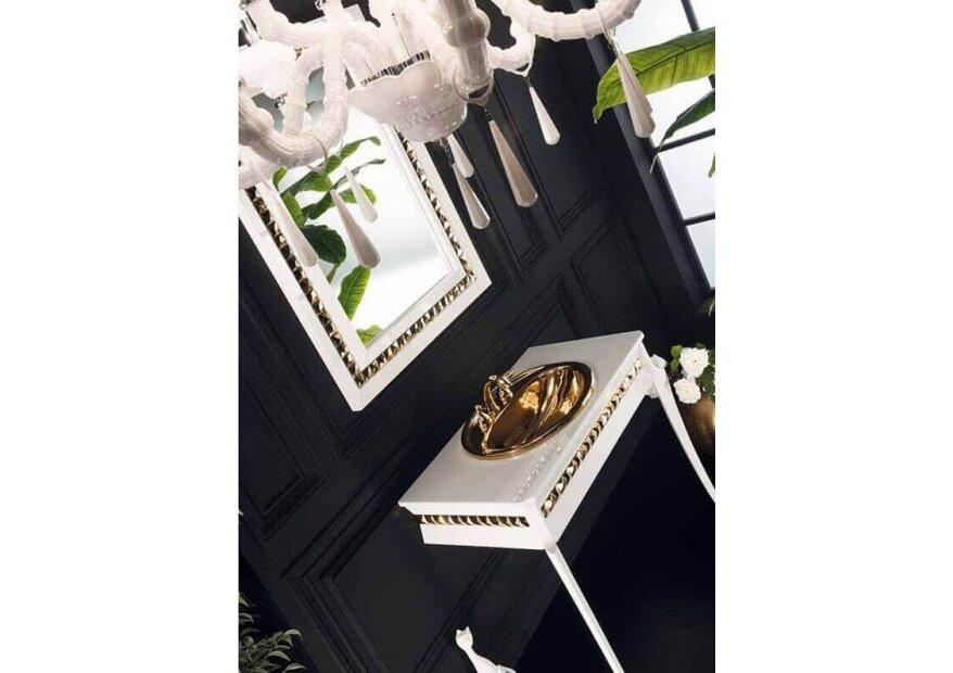 ארון  אמבטיה בצבע לבן דגם Brillante