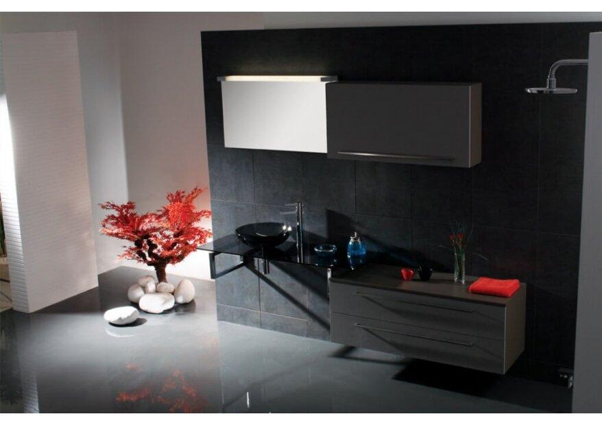 ארון אמבטיה דגם Elegant משולב עץ יוקרתי