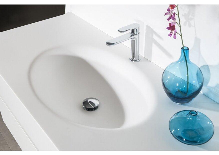 ארון אמבטיה דגם LOOP עם כיור לבן