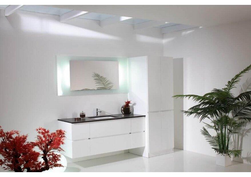 ארון אמבטיה לבן quatro