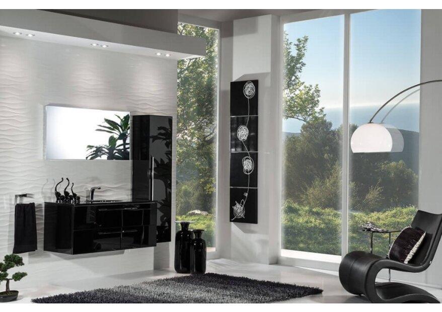 ארון אמבטיה מזכוכית ACQUA FLAT GLASS
