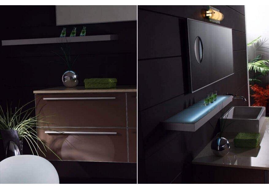 ארון אמבטיה מזכוכית BIANCO במידות מיוחדות