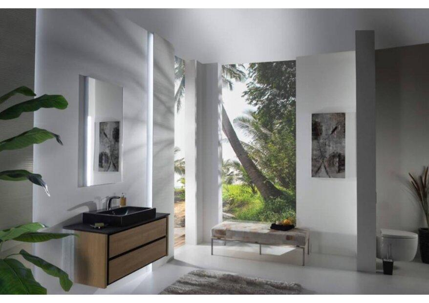 ארון אמבטיה תלוי דגם BOCCIOLO אלון
