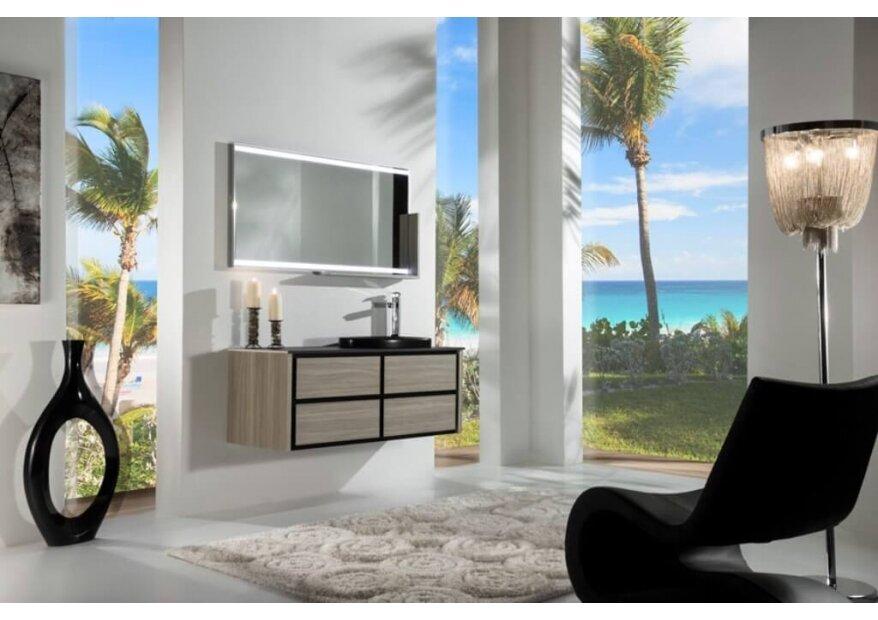 ארון אמבטיה תלוי דגם BOCCIOLO שחור