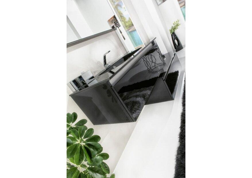 ארון אמבטיה תלוי זכוכית שחורה דגם ACQUA