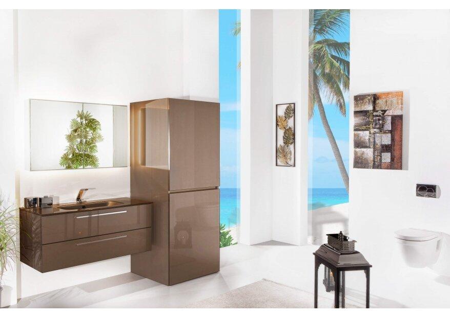 ארון אמבטיה ACQUA FLAT לבן