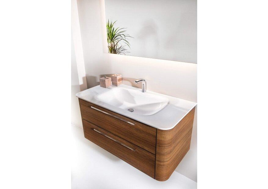 ארון אמבטיה ACQUA RADIUS עץ אגוז