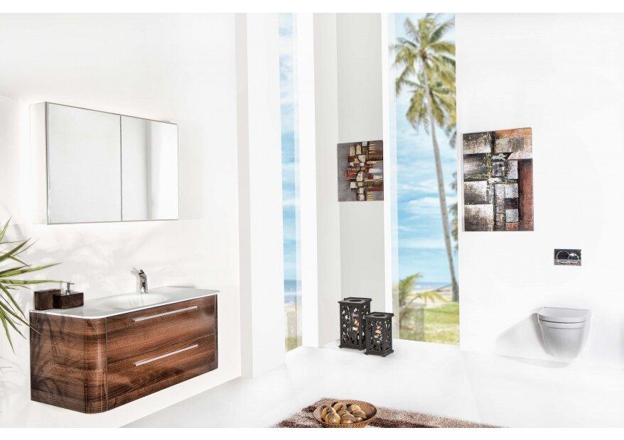 ארון אמבטיה ACQUA RADIUS עץ