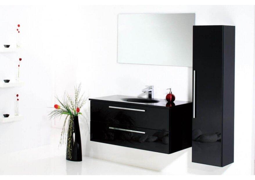 ארון אמבטיה Aqua Black Glass