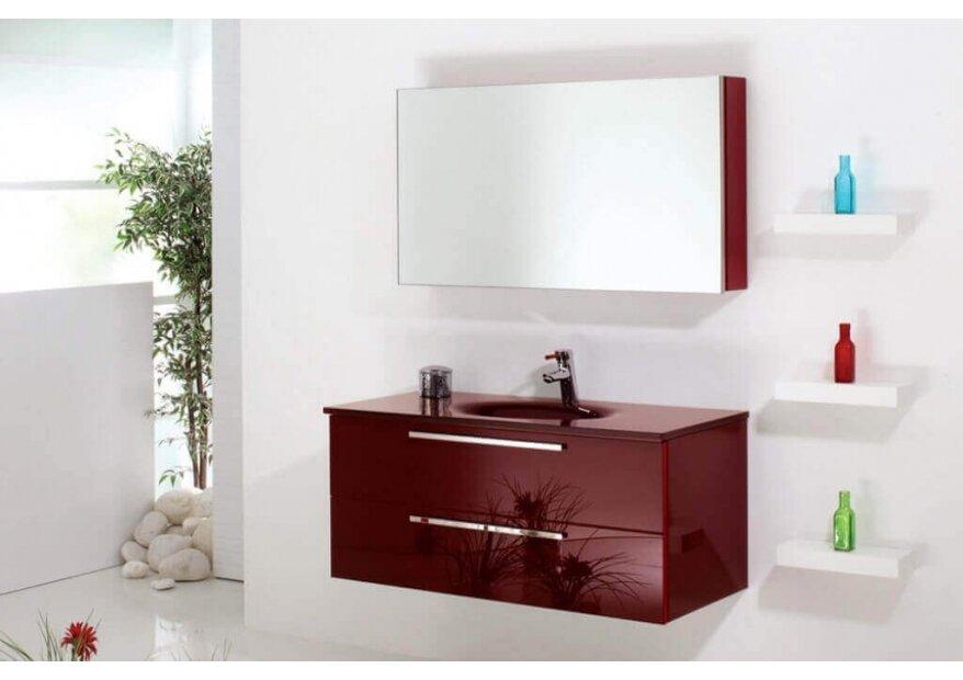ארון אמבטיה Aqua Red Glass