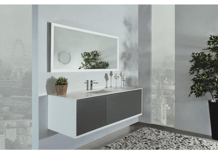 ארון אמבטיה Cubic לבן
