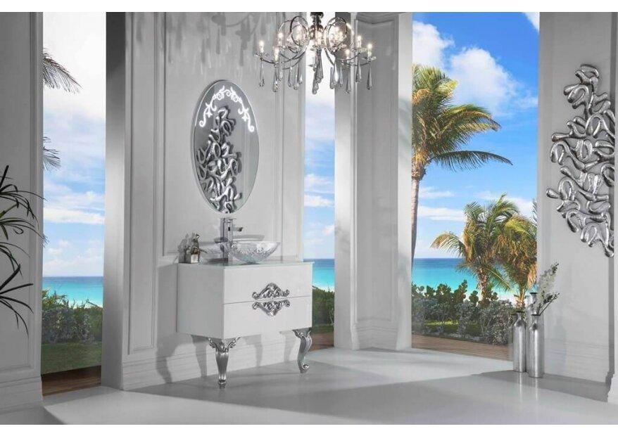 ארון אמבטיה ECO CLASSIC לבן כסוף