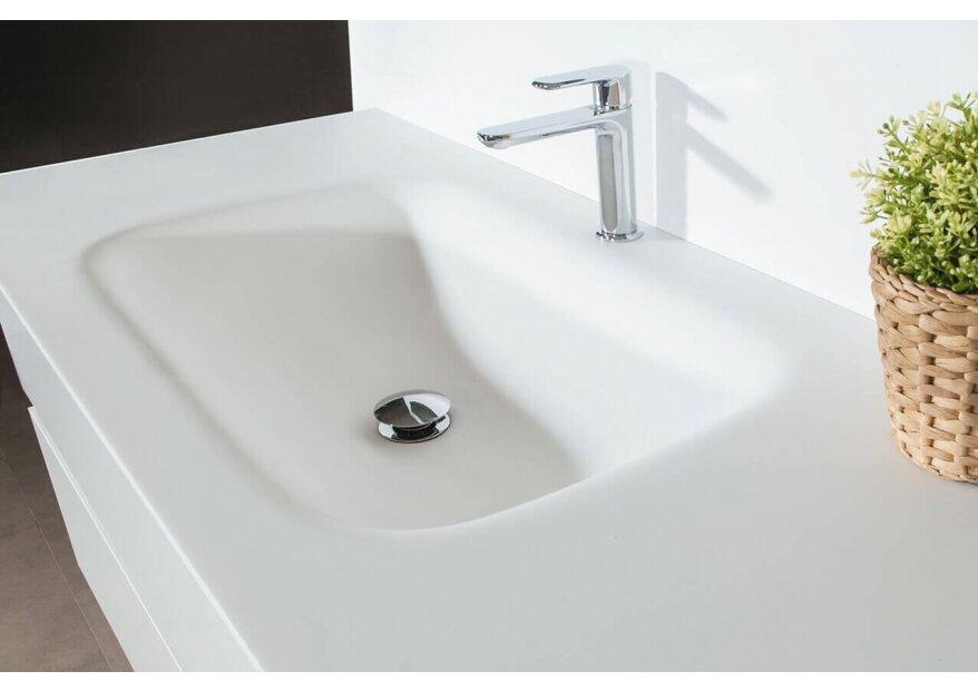 ארון אמבטיה LOOP עם כיור לבן