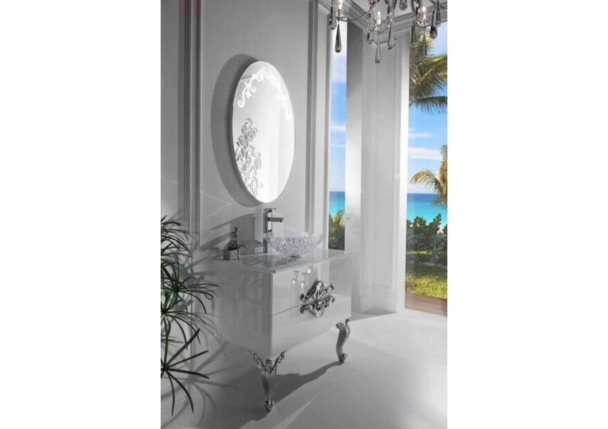 ארון אמבט לבן מבריק