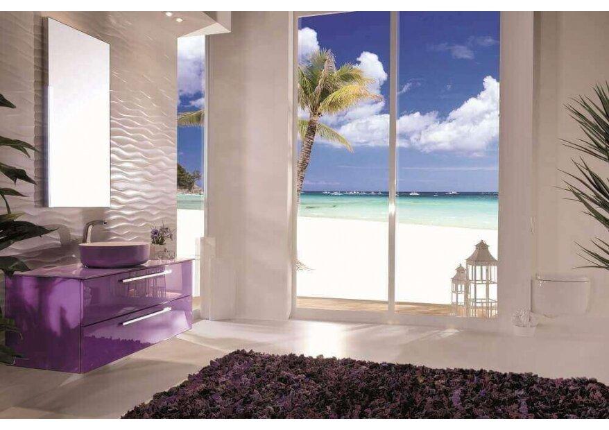ארונות אמבטיה דגם acqua flat1