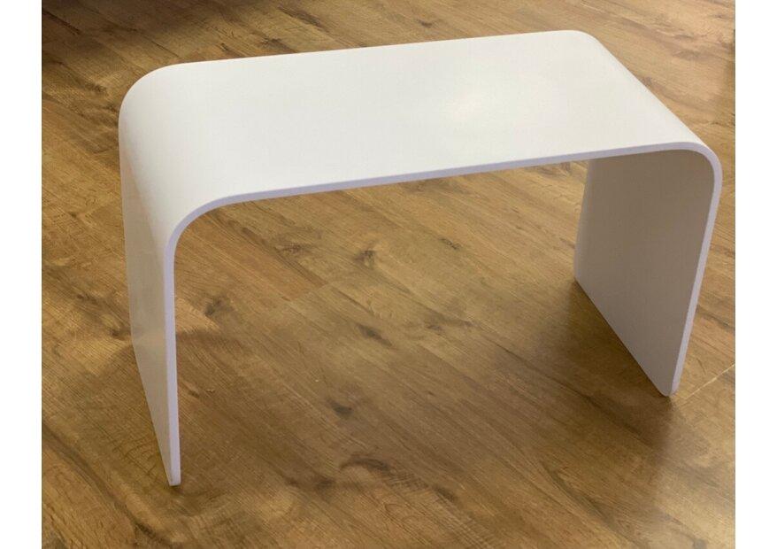 ספסל אקרילום 70 לבן