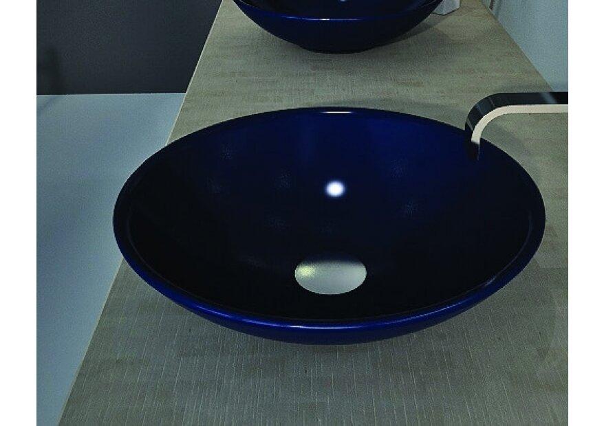 1120 - כחול מבריק כיור מונח
