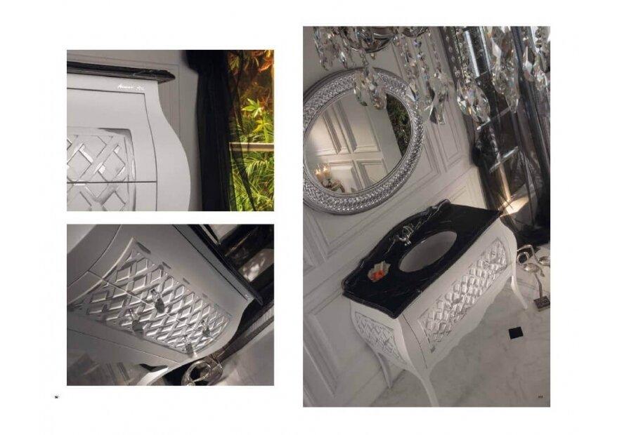 ארון  אמבטיה לבן קלאסי