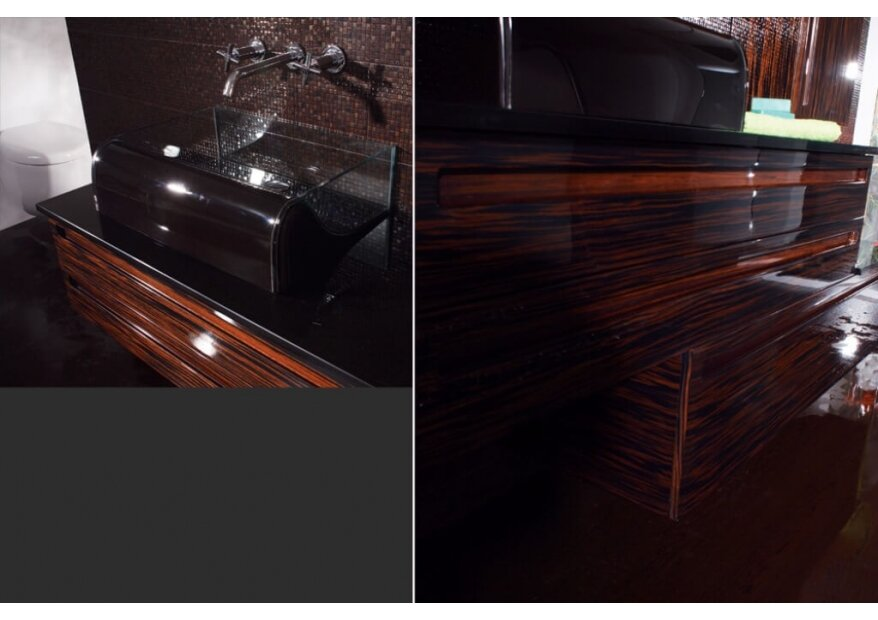 Aqua ארון אמבטיה מעץ