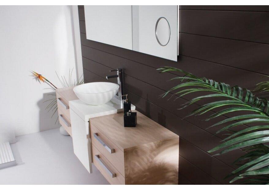 ELIT ארון אמבטיה מעץ