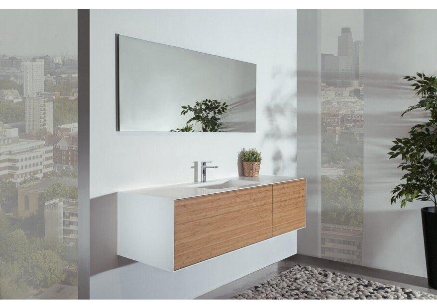 MINIMAL BAMBOO ארון אמבט