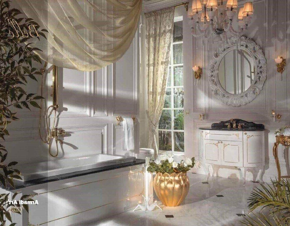 ארון אמבטיה לבן מעוצב