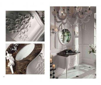 ארון אמבטיה בסגנון קלאסי בצבע לבן
