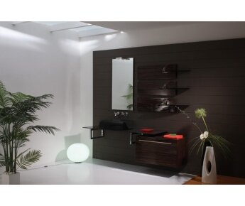 ארון אמבטיה דגם ELEGANT יוקרתי משולב עץ