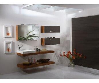 ארון אמבטיה מעץ יוקרתי דגם LAND