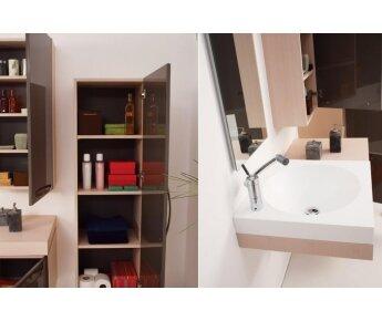 ארון אמבטיה מעץ יוקרתי LAND