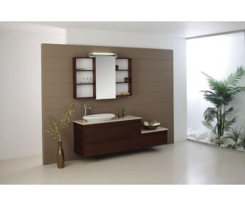 ארון אמבטיה מעץ מלא איכותי
