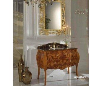 ארון אמבטיה מעץ Fiore