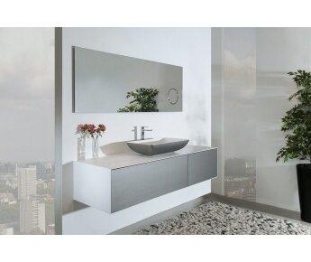 ארון אמבטיה עם כיור מונח