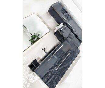 ארון אמבטיה תלוי דגם ACQUA FLAT GLASS שחור