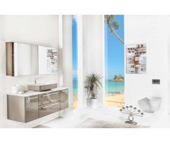 ארון אמבטיה תלוי דגם ACQUA FLAT GLASS