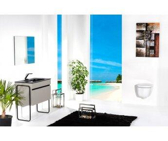 ארון אמבטיה תלוי דגם VALLESSI GRANDE אפור אבן מט