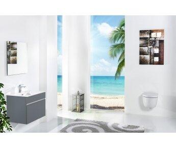ארון אמבטיה תלוי דגם VALLESSI GRANDE אפור מט