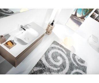 ארון אמבטיה תלוי דגם VALLESSI GRANDE קפוצ'ינו מבריק