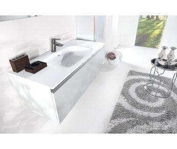 ארון אמבטיה תלוי דגם VALLESSI UNO לבן מבריק