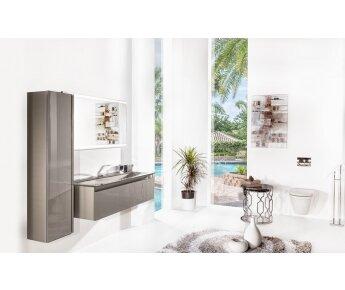 ארון אמבטיה תלוי זכוכית ויז'ן דגם ACQUA SLIM