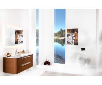 ארון אמבטיה ACQUA RADIUS דמוי עור
