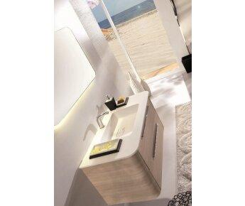 ארון אמבטיה AQUA RADIUS WOOD015