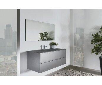 ארון אמבטיה LOOP עם כיור זכוכית מט