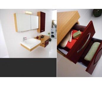 ארון אמבטיה Land משולב עץ