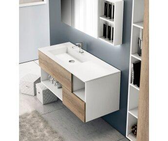 ארון אמבטיה OPEN 01 לבן