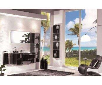 ארון אמבטיה acqua flat עם ארון שירות תואם-2