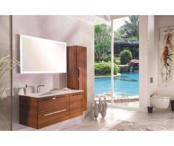 ארון אמבטיה acqua flat עם ארונית שירות גבוהה
