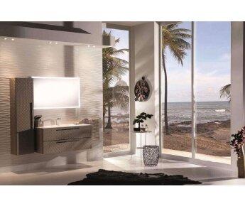 ארון אמבטיה acqua flat - עם ארונית שירות