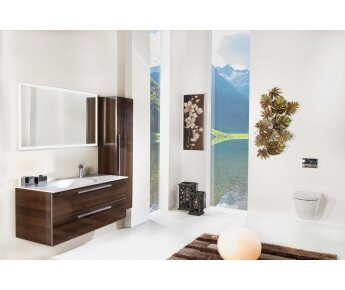 ארון לאמבטיה ACQUA FLAT עץ