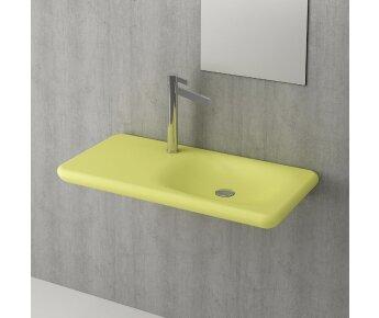 כיור משטח תלוי  FENICE צהוב מט